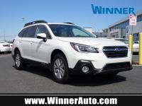 Clean CARFAX. Crystal White Pearl 2019 Subaru Outback
