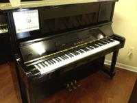"This Certified Pre-Owned 49"" Kawai Studio Piano has"