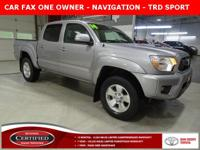 * TOYOTA CERTIFIED ONE OWNER *, * LOCAL TRADE *, * 4WD