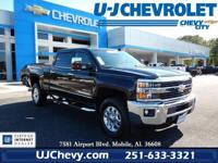 Certified. Black 2015 Chevrolet Silverado 2500HD LTZ