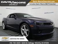 Certified.Clean CARFAX.2015 Chevrolet Camaro 1LT blue