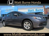 This 2015 Honda Civic Sedan LX was purchased, serviced