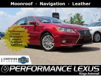 Lexus Certified! 1 owner, Free CARFAX report.