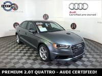 AUDI CERTIFIED - FRESH OFF LEASE UNIT - CLEAN CARFAX