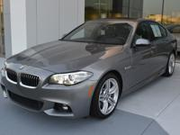 This 2016 BMW 535i Sedan is Space Gray Metallic with a