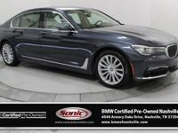 This Certified Pre-Owned 2016 BMW 740i (***ONE