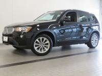 2016 BMW X3 XDRIVE28I! CERTIFIED! JET BLACK EXTERIOR