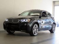 2016 BMW X4 xDRIVE35i M SPORT! CERTIFIED PRE-OWNED!