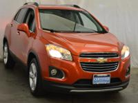 Certified. orange rock metallic 2016 Chevrolet Trax LTZ