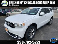 Certified. 2016 Dodge Durango Limited AWDCARFAX