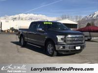 Certified. Magnetic Metallic 2016 Ford F-150 Lariat 4WD