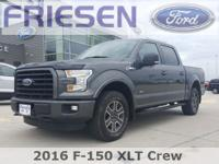 Certified. Gray 2016 Ford F-150 XLT Clean CARFAX.