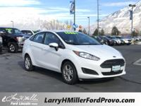 Certified. White 2016 Ford Fiesta SE FWD 6-Speed