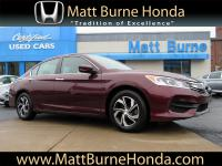 This Certified pre-owned 2016 Honda Accord Sedan LX was