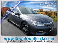 Certified. Gray 2016 Honda Accord Touring FWD 6-Speed