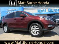 This Certified Pre-Owned 2016 Honda CR-V EX-L was