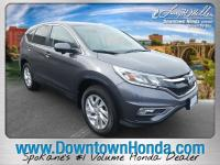 Certified. Mountain Air Metallic 2016 Honda CR-V EX FWD