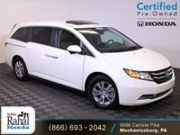 2016 Honda Odyssey EX-L in White Diamond Pearl with