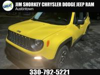Certified. 2016 Jeep Renegade Sport 4WDCARFAX