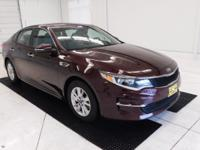 CARFAX One-Owner. Certified. Sangria 2016 Kia Optima LX