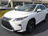 White 2016 Lexus RX 350 FWD, ONE OWNER AND LIKE NEW!,
