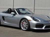 2016 Boxster Spyder in GT Silver with black interior,