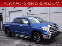 Certified. Blue 2016 Toyota Tundra SR5 CrewMax 4WD
