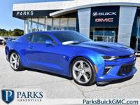 2017 Hyper Blue Metallic Chevrolet Camaro Certified.
