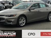 Clean CARFAX. Pepperdust Metallic 2017 Chevrolet Malibu