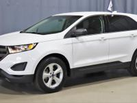 Certified. White 2017 Ford Edge SE FWD Automatic