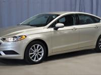 New Price! Certified. White Gold 2017 Ford Fusion SE