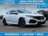 HONDA CERTIFIED! *EQUIPPED WITH:* MOONROOF, LEATHER,