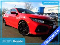 Certified. Red 2017 Honda Civic EX-L w/Navigation FWD