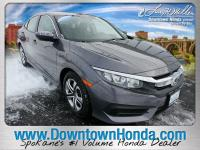 Certified. Modern Steel Metallic 2017 Honda Civic LX