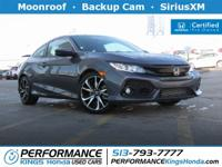 Honda Certified! Features: Backup Cam, Moonroof,