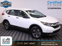 2017 Honda CR-V LX in White Diamond Pearl with Ivory