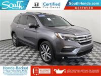 Clean CARFAX. Certified. 2017 Honda Pilot Touring Gray