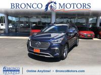 New Price! Certified. Blue 2017 Hyundai Santa Fe