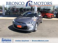Certified. Gray 2017 Hyundai Veloster Value Edition FWD