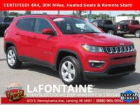 2017 Jeep New Compass Latitude Redline Pearlcoat