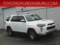 Certified. Super White 2017 Toyota 4Runner TRD Off-Road