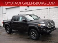 Certified. Black 2017 Toyota Tacoma TRD Offroad V6 4WD