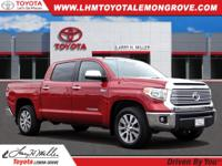 Certified. Red 2017 Toyota Tundra Limited CrewMax RWD