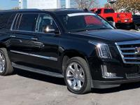 Clean CARFAX. Certified. Black 2018 Cadillac Escalade