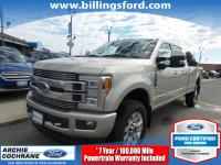 Certified. White Gold Metallic 2018 Ford F-350SD
