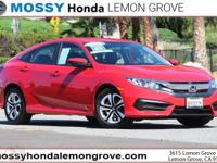 Certified. CARFAX One-Owner. Rallye Red 2018 Honda
