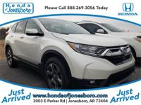 White 2018 CARFAX One-Owner. Honda CR-V EX-L AWD CVT