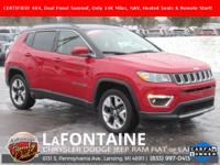 2018 Jeep Compass Limited Redline Pearlcoat Certified.
