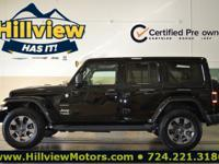 Clean CARFAX. Certified. Black Clearcoat 2018 Jeep