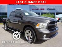 EPA 25 MPG Hwy/17 MPG City! Ram Certified, GREAT MILES